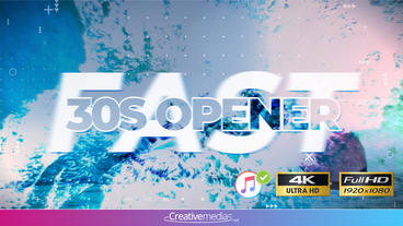 Fast 30s Opener - Apple Motion and Final Cut Pro X Template Apple Motion Template