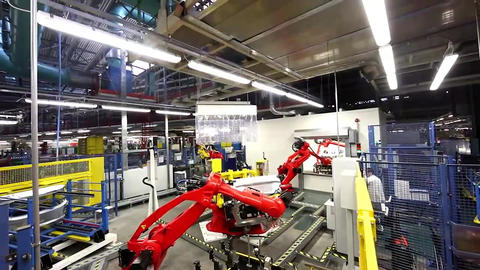 Automated Robotic Arm Automotive Car Industrial Automation Assembly Line4 Archivo