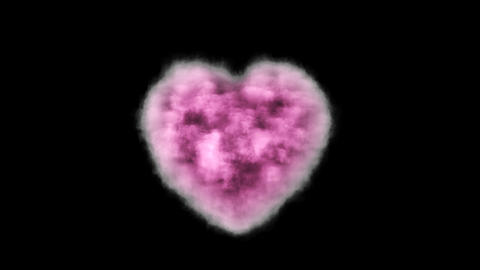 Pink cloud in the shape of a heart with alpha channel GIF