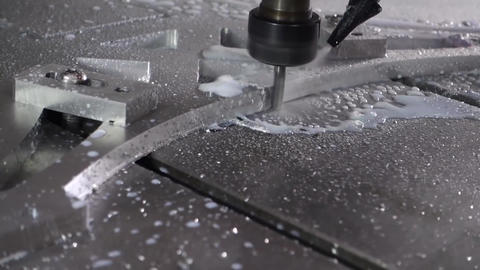 Cnc Router cutting aluminium cut 009 Live Action
