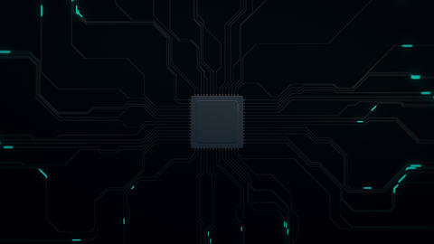 CPU Impact Circuit Board Stock Video Footage