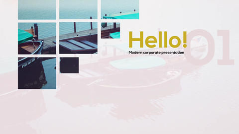 Minimal Corporate Slides After Effects Template