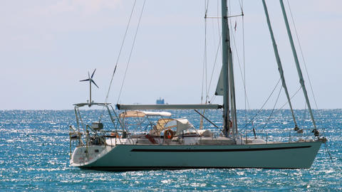 Luxury sailing yacht Live Action
