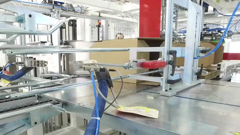 Product Packaging Line At Factory5 Footage
