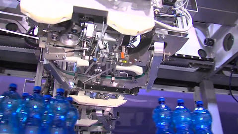 Packaged Products On Drink Production Line Live Action