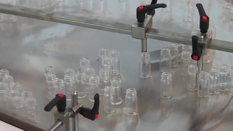 Medicine Bottles In Pharmaceutical Factory Live Action