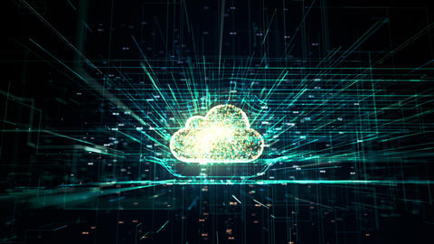 Cloud technology, abstract 3D information technology animation Live Action