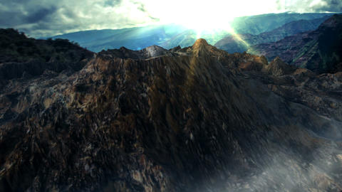 Animated mountain landscape 애니메이션