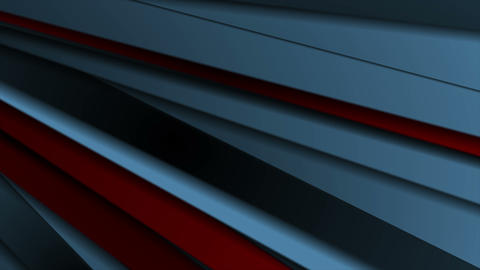 Dark blue and red stripes abstract motion background Animation