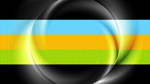 Bright iridescent glossy ring abstract video animation Animation