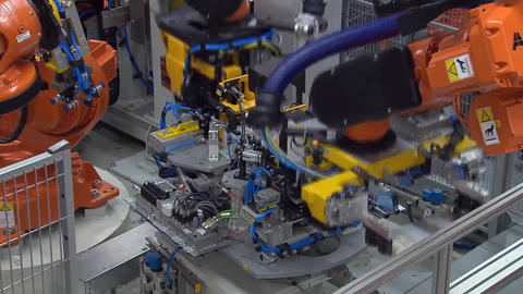 Automobile Plant, Modern Production Of Cars, Equipment For Car Assembly Process5 Footage