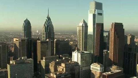 Aerial shot of Philadelphia Footage