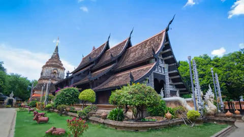 Beautiful Time Lapse Beautiful Wat Lok Moli (Molee)... Stock Video Footage