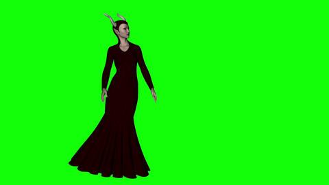 halloween witch animation, green screen, animation Live Action