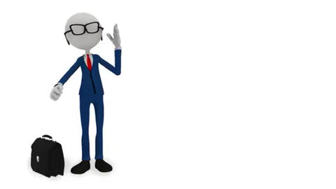 3d character businessman points finger c alpha channel and on a green screen Footage
