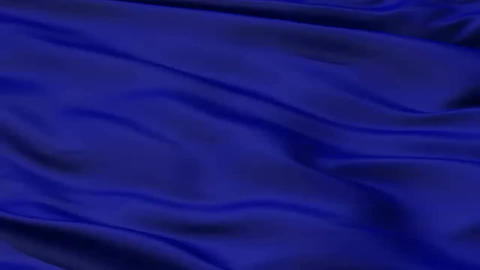 A background of rippled and folded deep royal blue fabric material,seamless Footage