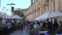 Malta The Valletta Waterfront promenade with shops and gastronomy GIF
