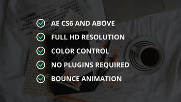 Bullet List Plantilla de After Effects