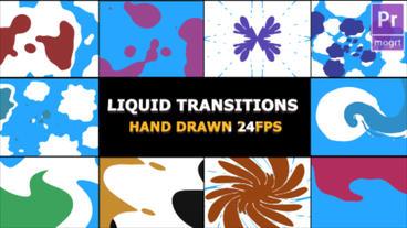 2D FX Liquid Transitions モーショングラフィックステンプレート