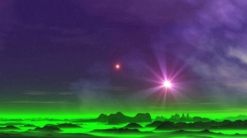 Two Stars over the Misty Planet GIF