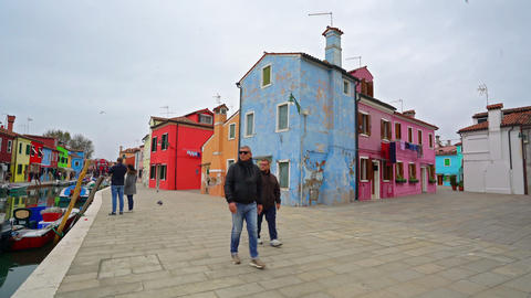 The colored houses in Burano GIF