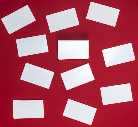 many empty white paper business cards Photo