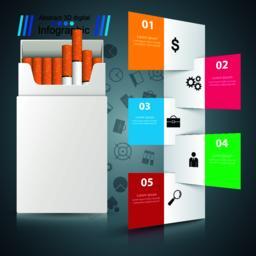 Harmful cigarette, viper, smoke, business infographics Vector