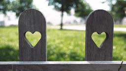Heart Shape Cutouts in Wood Footage