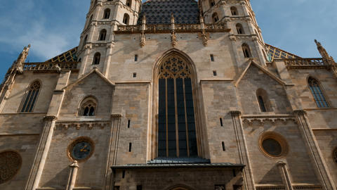 St Stephens Cathedral, Vienna, Austria Live Action