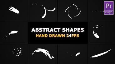 Abstract Shape Elements モーショングラフィックステンプレート