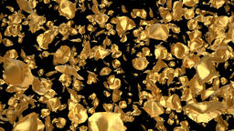 Flying Romantic golden metal Rose Flower Petals Falling Alpha Channel transition Animation