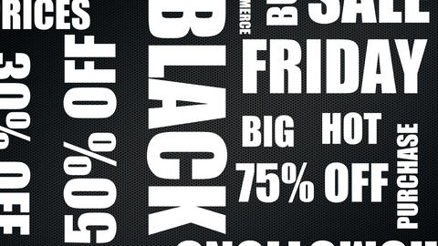 Big Black Friday Sale Word Cloud - Animation 20 Words Live Action