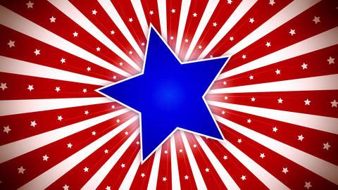 US Patriotic Stars and Stripes Animation