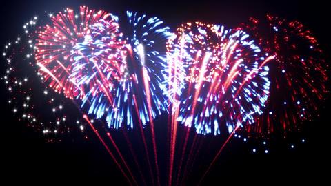 US Patriotic Fireworks Animation