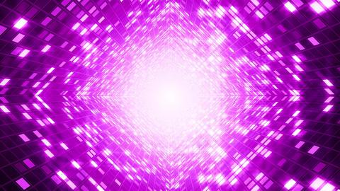 Dancing Light Grid Tunnel Animation