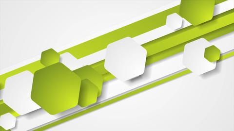 Abstract green tech geometric video animation GIF