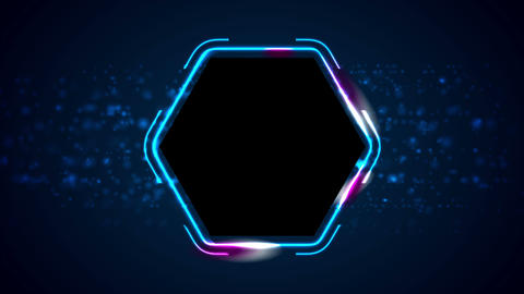 Retro neon 80s shiny hexagon motion background Animation