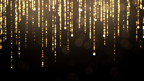 Golden Falling Glitter Particles Animation