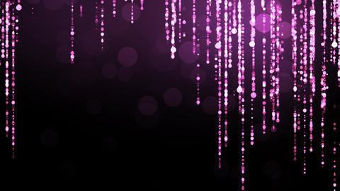 Purple Abstract Glitter Particles Animation