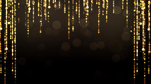 Golden Glitter Particles Motion Animation