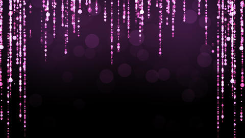 Purple Glitter Particles Motion Animation