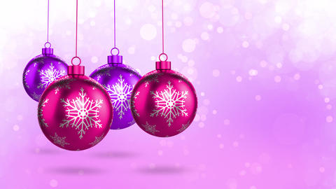 Pink Christmas Decorations Animation