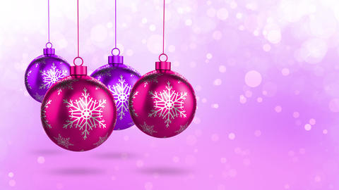 Pink Christmas Decorations Stock Video Footage