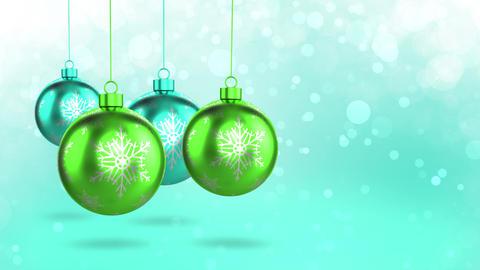 Green Christmas Decorations Animation