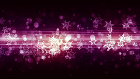 Fashion Christmas Snow Flakes Animation