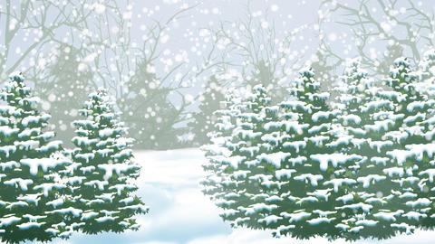 Holidays Winter Woods Animation