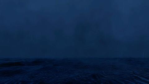 Lightning Sea Stormy weather rain Footage