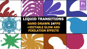 Hand Drawn Transitions モーショングラフィックステンプレート