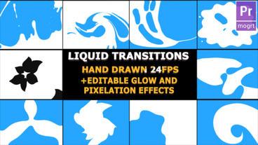 Liquid Motion Transitions モーショングラフィックステンプレート