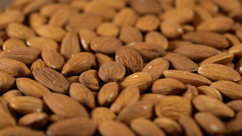 rotating background of almonds Footage